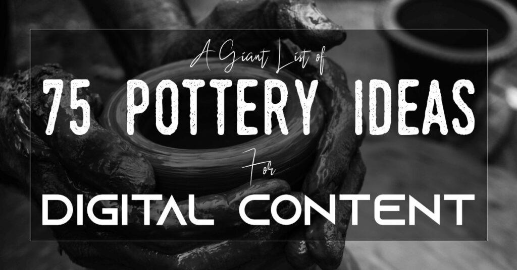 75 فكرة فخارية لصورة عنوان المحتوى الرقمي